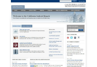 California Courts Website Redesign image