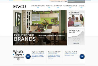 Masco Inc. Leverages Website to Support New Corporate Initiatives image