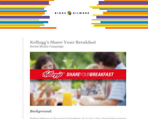 Kellogg's Share Your Breakfast - Facebook image