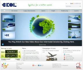 Ekol Logistics Corporate Website image