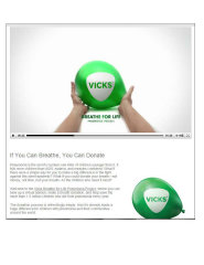Vicks Breathe For Life Pneumonia Project image