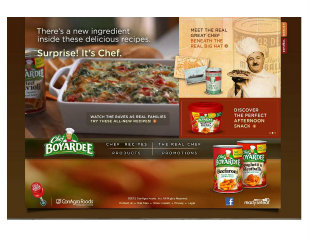 Chef Boyardee Site Redesign image