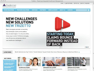 TriZetto Website image