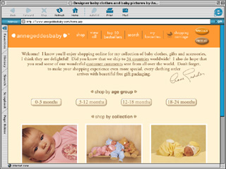 The Anne Geddes Baby Clothing Collection Website image