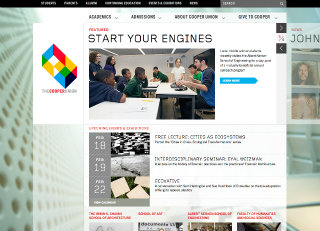 The Cooper Union Website Redesign image