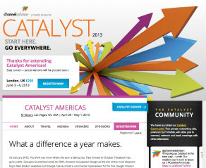 ChannelAdvisor Catalyst 2013 Event Site image