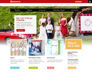 Husqvarna Viking Website Development image
