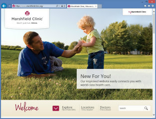 Marshfield Clinic Website image