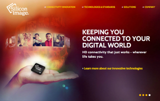 Silicon Image Website Redesign image