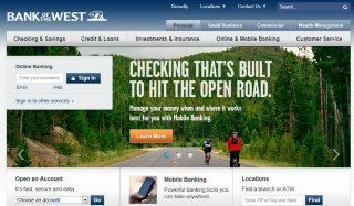 Bank of the West Homepage Redesign image