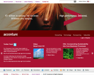 Accenture Corporate Website image