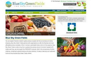 Blue Sky Green Fields image