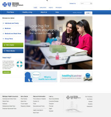 Blue Cross Blue Shield of Michigan and Blue Care Network Public Website image