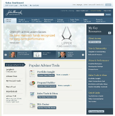 John Hancock Investments Advisor Site image