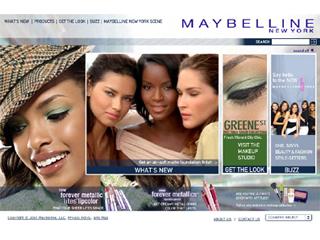 Maybelline New York Website image