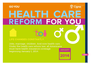 Health Care Reform for YOU Infographic image