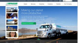 Praxair.com Redesign image