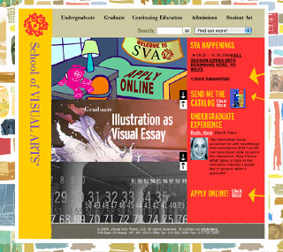 School of Visual Arts Website image