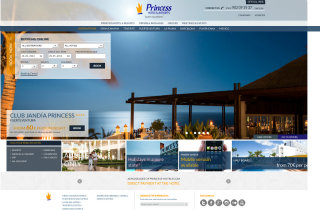 Responsive Design state-of-art web development for Princess Hotels & Resorts image