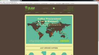 Olam Specialty Coffee Website image