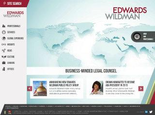 Edwards Wildman Website Redesign image