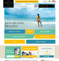 Florida's Paradise Coast Responsive Design Website image