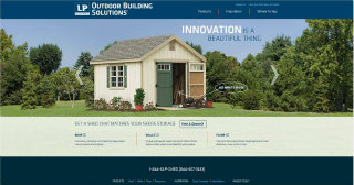 LP® Outdoor Building Solutions® Website image