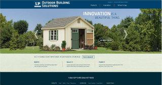 LP® Outdoor Building Solutions® Website image