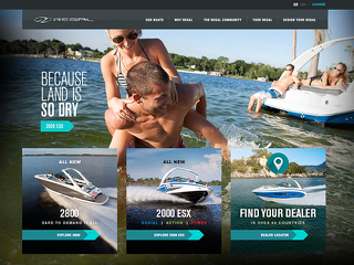 Regal Boats website image