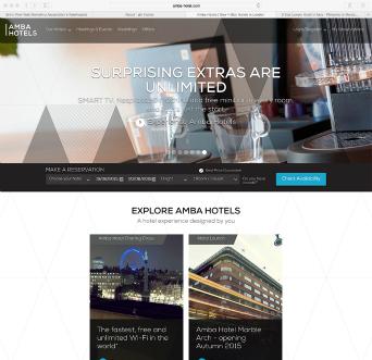 Amba Hotels website image