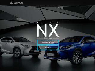 Lexus NX Series Website  image