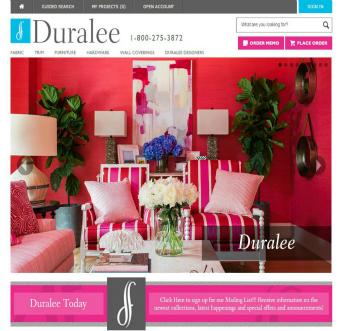Duralee Website Redesign  image