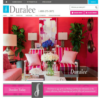 Duralee Website Redesign  image