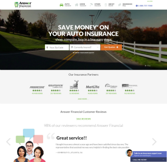 Answer Financial Website image