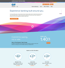 CIT Bank Website Rebrand image