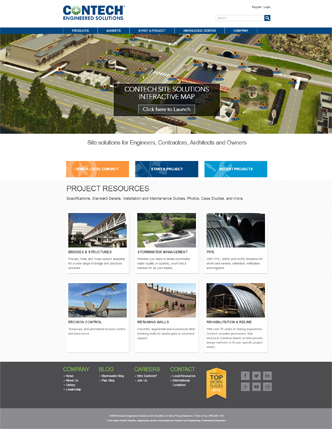 New Contech Engineered Solutions Website image