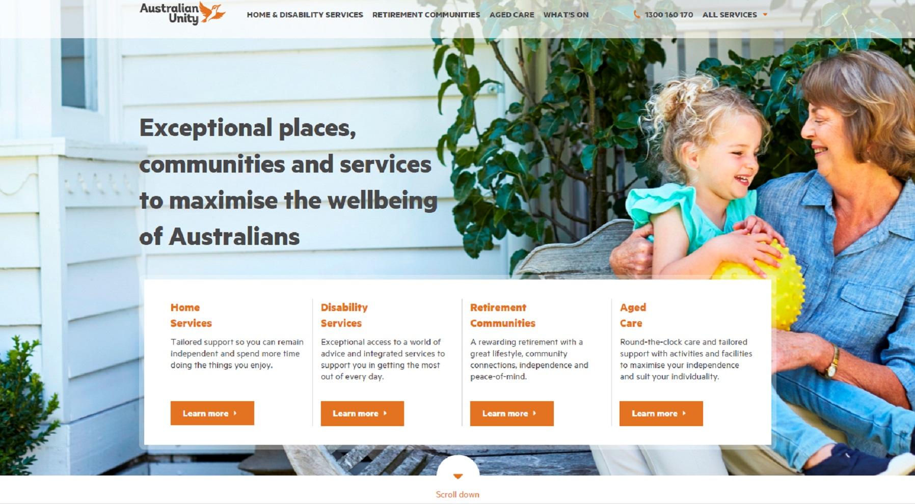 Independent & Assisted Living Website image