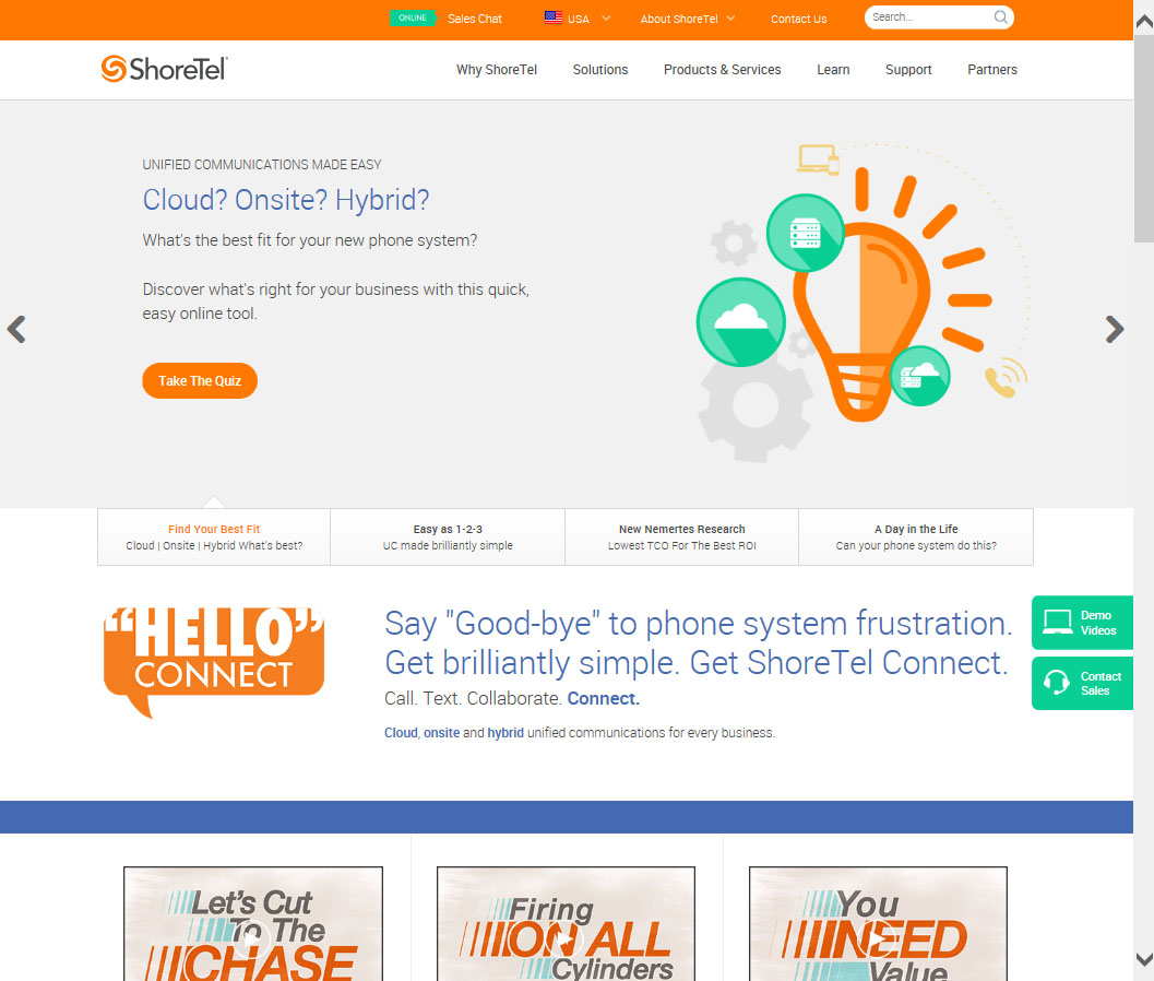 ShoreTel Website image