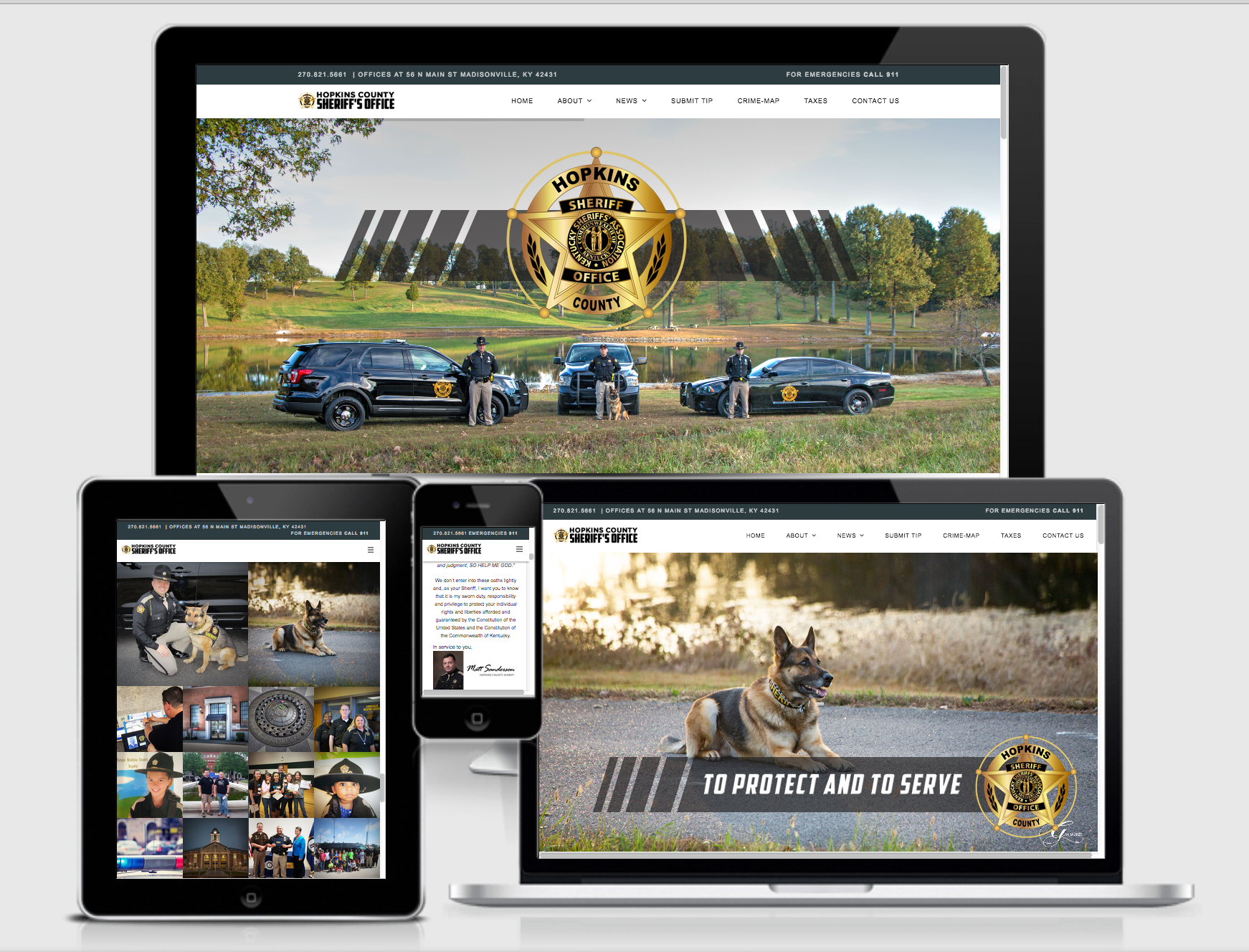 Hopkins County Sheriff Website image