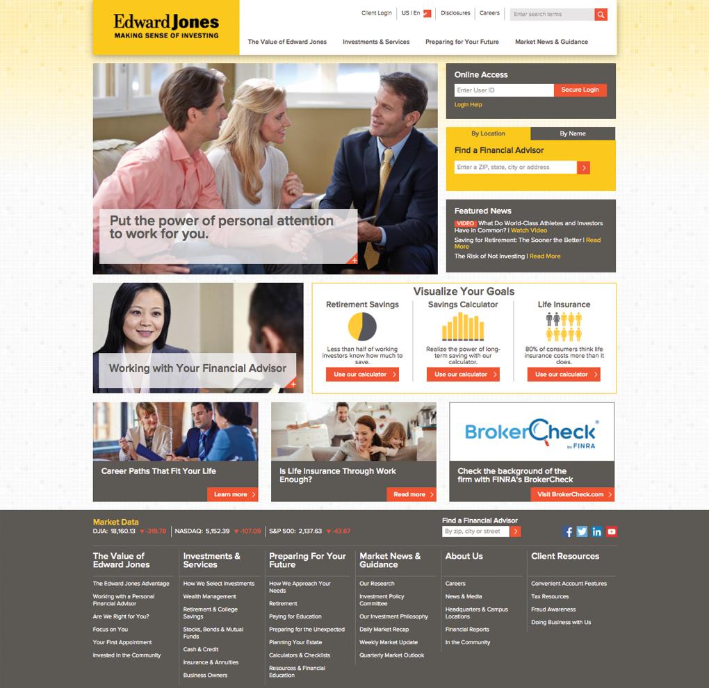 Edward Jones Website image