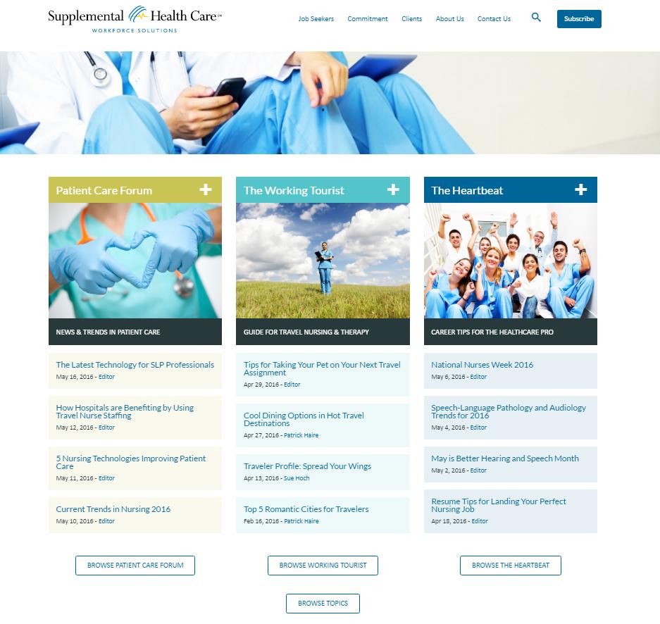 Supplemental Healthcare Blog image
