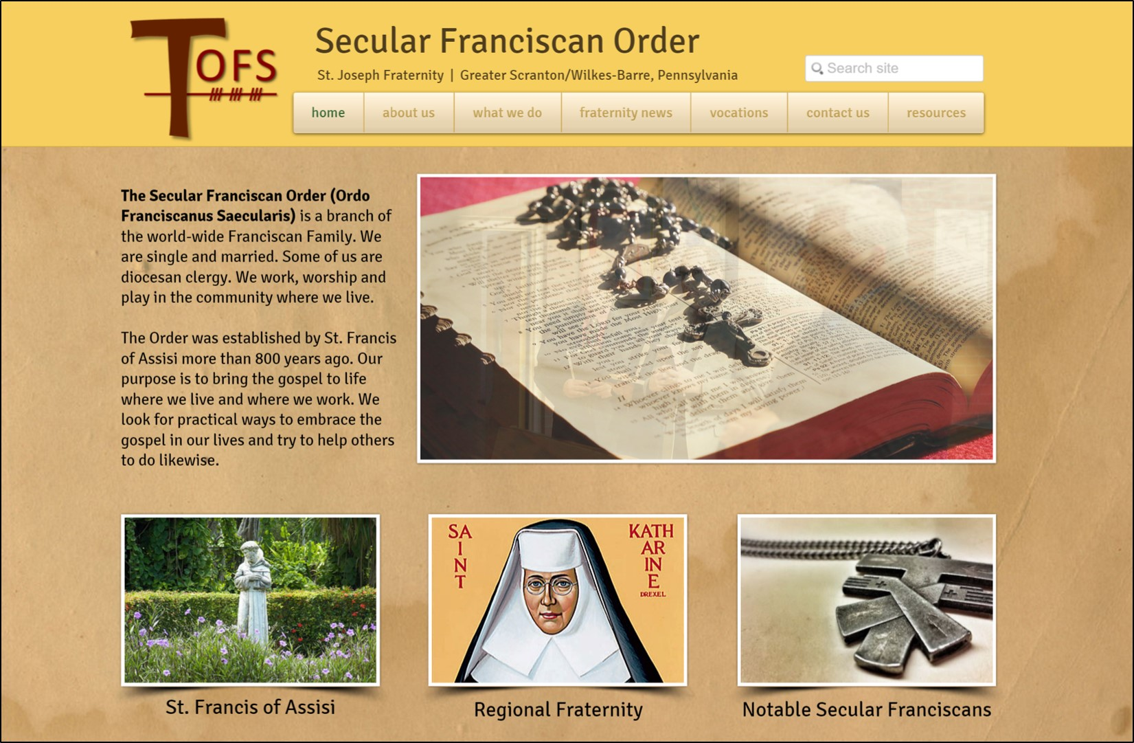 Secular Franciscan Order Local Website image