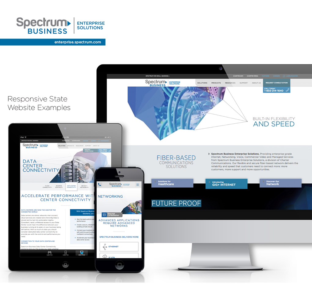Spectrum Business Enterprise Solutions Website image