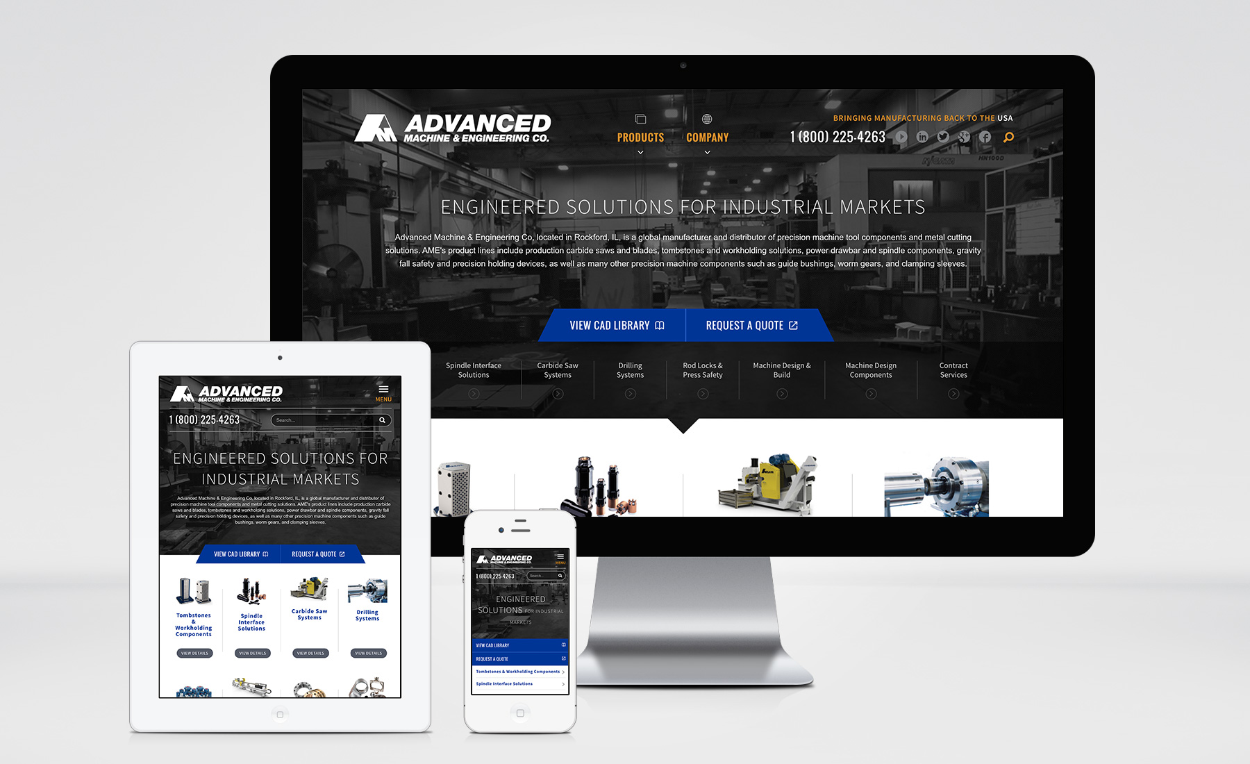 Advanced Machine & Engineering (AME) Website image