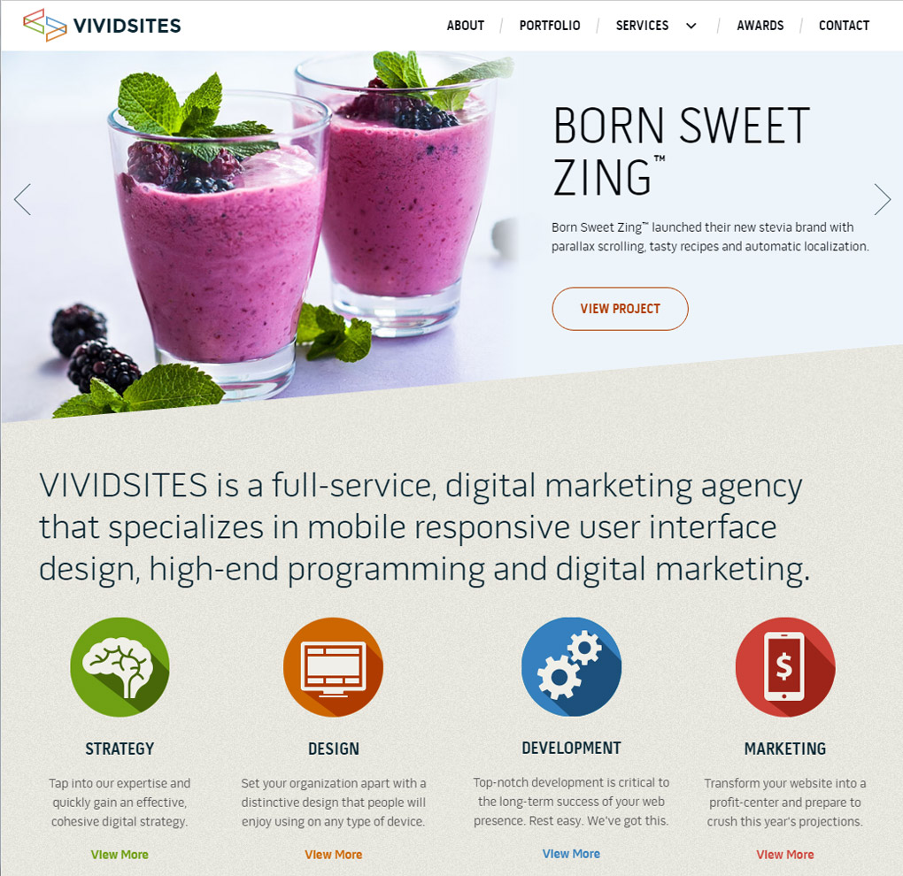 VIVIDSITES Website UI/UX Design image