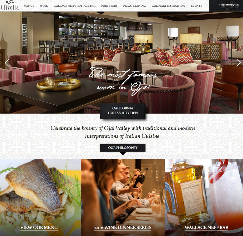 Olivella Restaurant Website