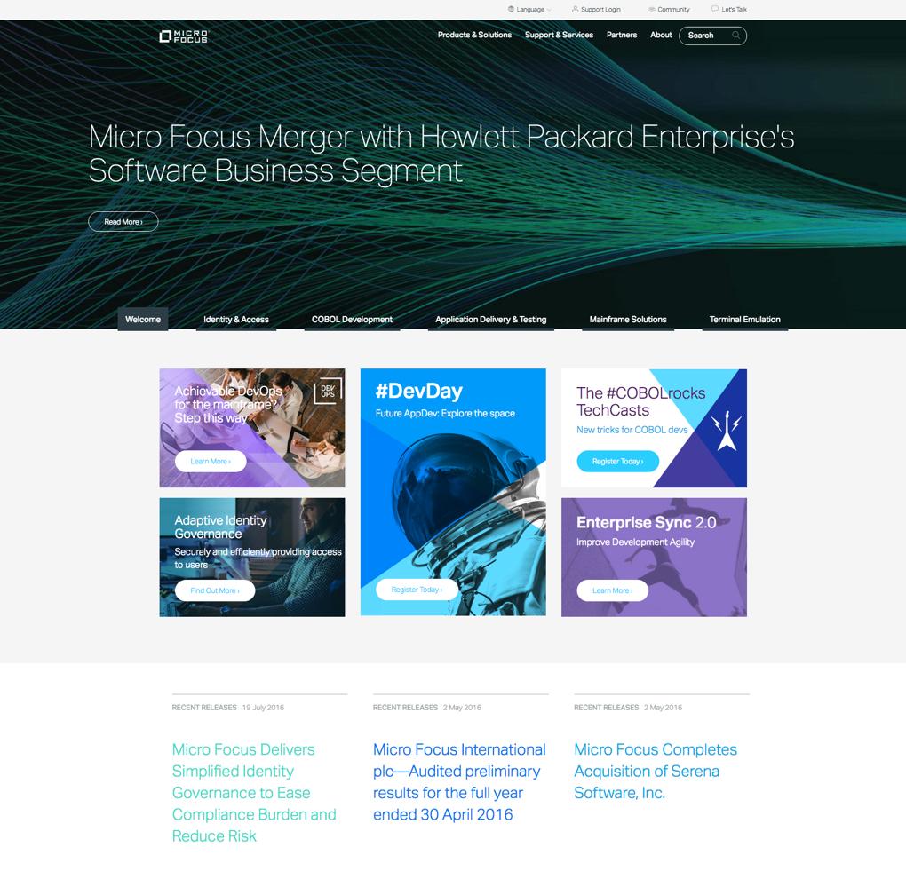 Micro Focus Corporate Site image