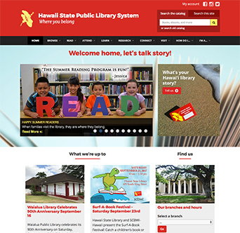 Hawaii State Public Library System Website image
