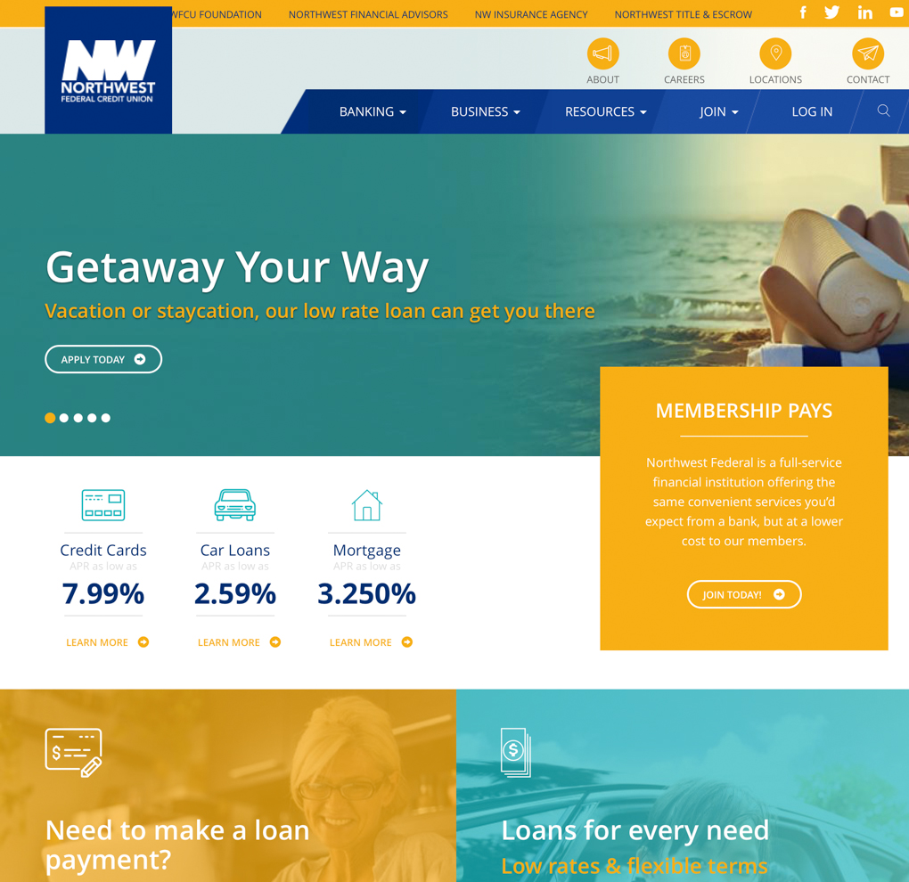 NWFCU Website Redesign image