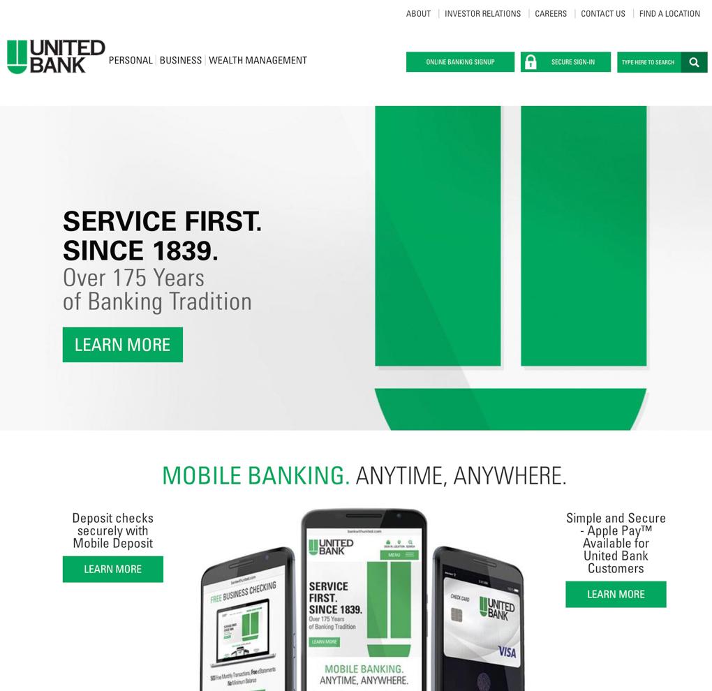 United Bank Website Redesign image
